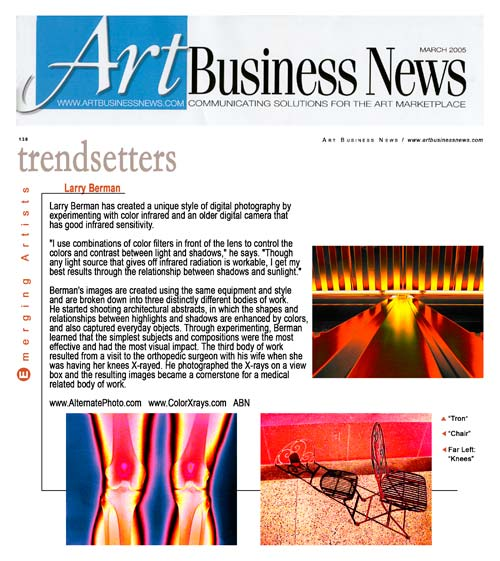 Art Business News March 2005 Emerging Artists Section